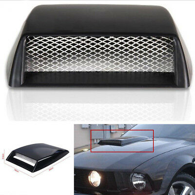 - 3Color Universal Car Decorative 3D  Air Flow Intake Scoop Bonnet Vent Cover Hood