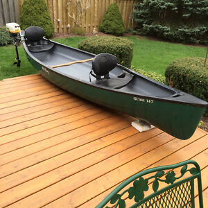 Canoe and Outboard Motor