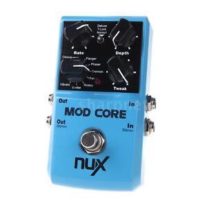 NUX MOD Core Guitar Effect Pedal 8 Modulationseffekte voreingestellte U5J7