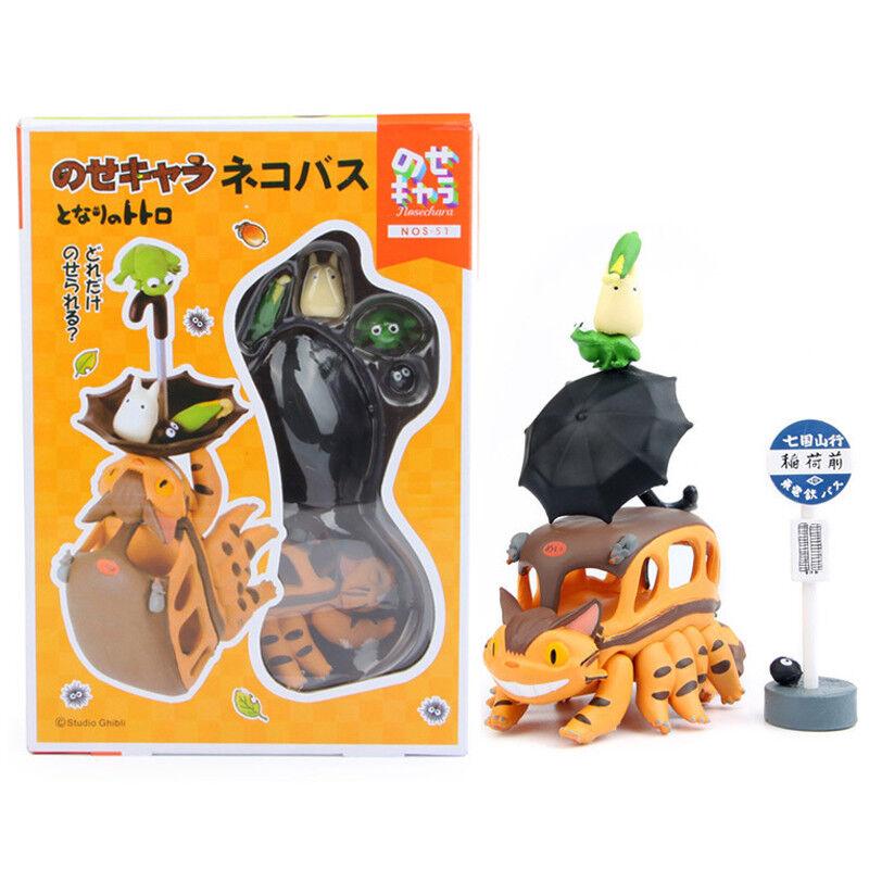 Studio Ghibli My Neighbor Totoro Bus Cat Mini Action Figures PVC Dolls DIY Gift