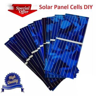 (Solar Panel Cells Kit System accessories DIY Energy Home House 0.5V 320mA 100pcs)