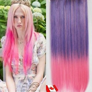 "Clip in hair extension,Straight hair,60 cm, 24"",LIGHT PINK #B001"