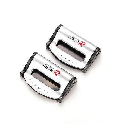 2x Car Auto Truck Smart Seat Belt Buckle Adjuster Holder Clip  UK14 Silve NP