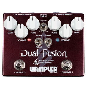 Wampler Dual Fusion Ver 2 Overdrive pedal