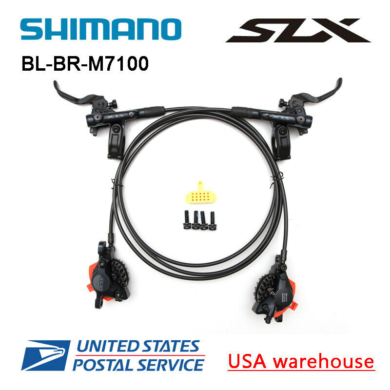 New SHIMANO SLX BR-BL-M7100 Bike MTB Hydraulic Disc Brake Set F&R (OE)
