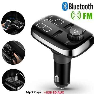 Auto Bluetooth MP3 Player + FM Transmitter für Zigaretten Anzünder USB SD AUX