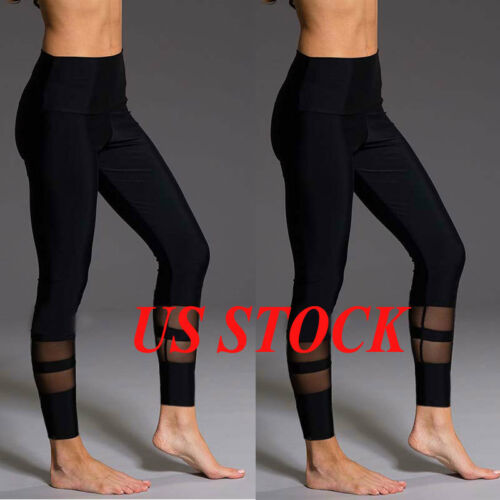 Leggings - US Stock Women Yoga Fitness Leggings Running Gym Stretch Sports High Waist Pants