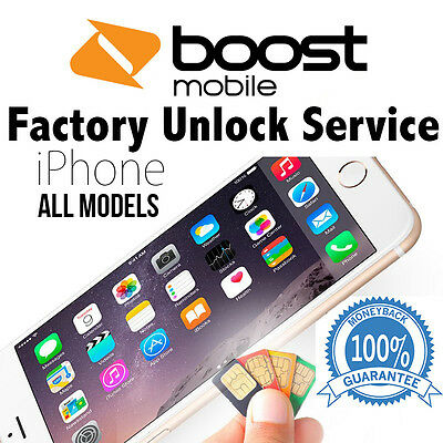 BOOST MOBILE FACTORY UNLOCK SERVICE CODE FOR IPHONE SE 5S 6 6+ 6S 100% SUCCESS