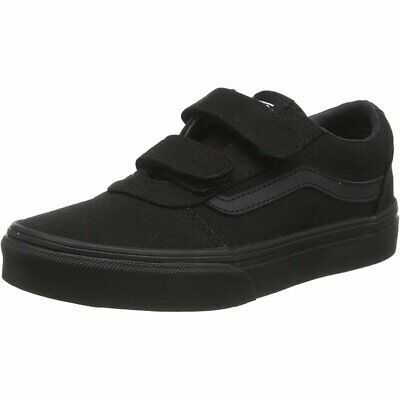 Vans Active YT Ward V Black/White Canvas Child Trainers Shoes