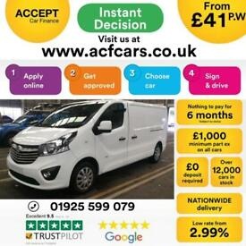 2015 WHITE VAUXHALL VIVARO 1.6 CDTI 115 2.9 T LWB SPORTIVE CAR FINANCE FR £41 PW