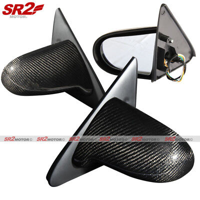 Real Carbon Fiber Spoon Style Power Adjust Side Mirrors fits 92-95 Civic 2/3DR Civic 3dr Carbon Fiber Spoon