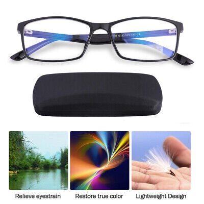 Computer Reading Glasses Anti-Glare Eye Strain Blue Light UV Blocking (Eye Strain Glasses Computer)
