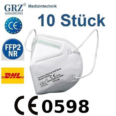 10x FFP2 Maske Mundschutz 5 Lagig ✅CE PRÜFSTELLE 0598 ✅ Händler aus Deutschland