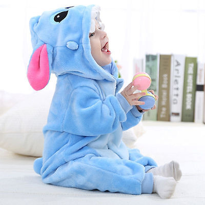 Unisex Baby Toddlers Winter Long Sleeve Pajamas Animal Costume Cosplay Romper - Baby Animal Costumes