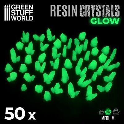 Cristales de Resina VERDE GLOW - Medianos - Texturas Escenografia Warhammer 40k