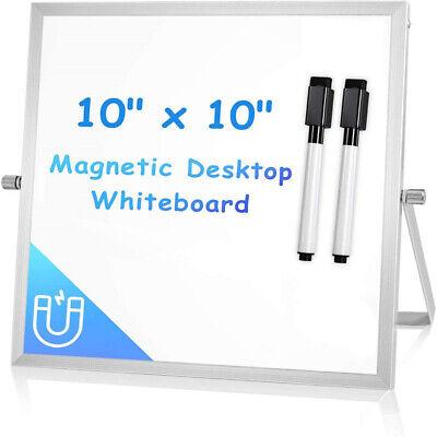 Viz-pro Small Dry Erase Board Whiteboard 10x10 Portable Desktop Whiteboard