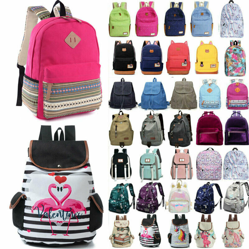 Women Girl School Backpack Shoulder Bag Student Travel Rucks