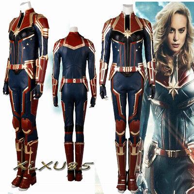 Ms.Marvel Captain Marvel Carol Cosplay Costume Jumpsuit Customized Halloween - Ms Marvel Costume