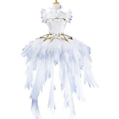 CARDCAPTOR SAKURA Clear Card KINOMOTO Sakura Ice Angel Cosplay Costume Dress](Angel Cosplay Costume)