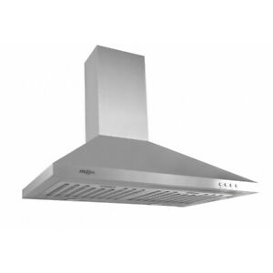 "30"" 630cfm Ancona Rapido IV Wall Mount Range Hood LED Lights"