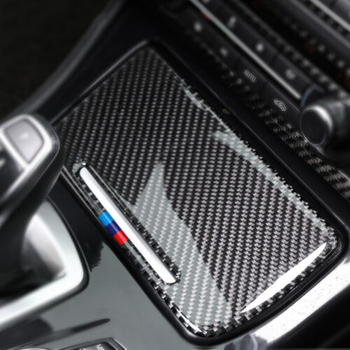 Auto Car Rubber Carbon Fiber Storage Box Panel cover decal For BMW E90 E92 E93