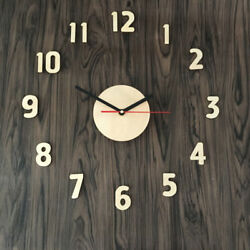 DIY Wall Clock Adhensive Wooden Surface Large Number Wall Clock Watch Sticker