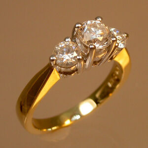 Diamond engagement ring 2.40CTW Bague de fiançailles or jaune