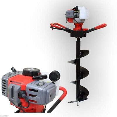 One Man 52cc Gas Power Post Earth Hole Digger Drill W 250mm Auger Bit Epa