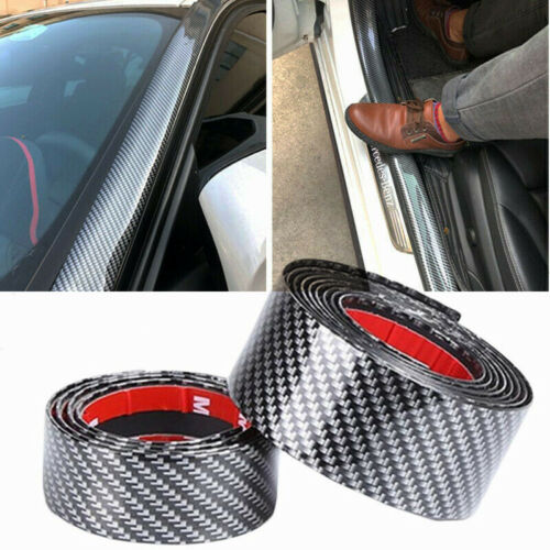 Car Parts - Car Stickers Carbon Fiber Vinyl Door Sill Protector For Toyota Parts Accessories
