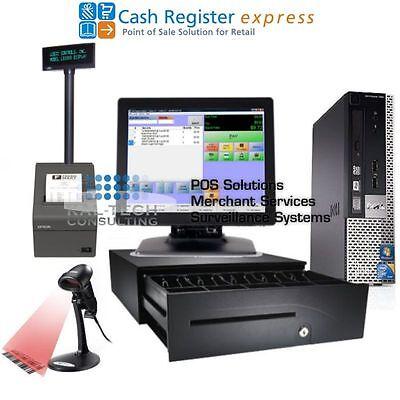 Pcamerica Pos System Cre Cash Register Express Pro Pos Retail Intel I34gb Ram
