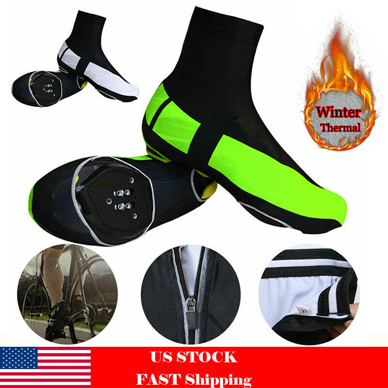 Cycling Sport Shoe Covers Windproof Bicycle Winter Thermal W