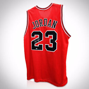 MICHAEL JORDAN - CHICAGO BULLS RED Hand Signed Basketball Jersey