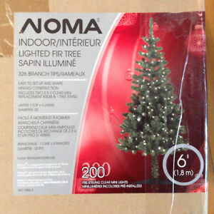 Christmas Nama 6'  Indoor Lighted fir tree w/ 200 lights