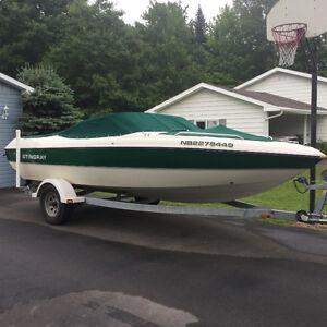 Stingray LS190 bowrider boat and trailer