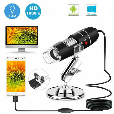 3in1 Usb Digital 1000x Microscope Magnifier Video Camera For Android Mac Windows
