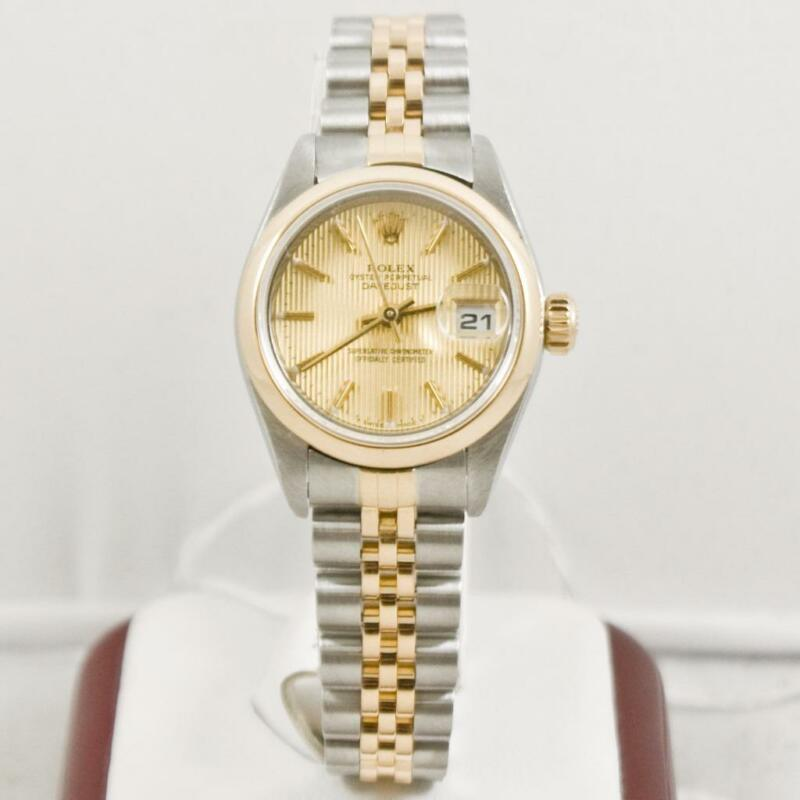 Rolex Ladys Datejust 79163 Champagne Tapestry Face Box & Booklets 2000