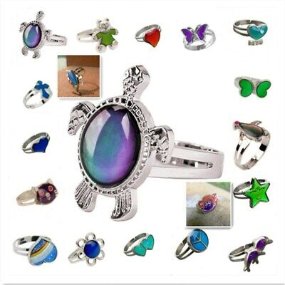 Popular Heart Colour Changing Mood Ring Adjustable One Size For Ladies/Child - Mood Rings For Kids