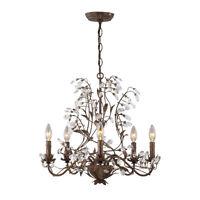 Stunning 5-Light Vine, Leaf & Crystal Chandelier – Spotless!!