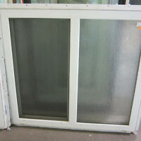 Slider Window with Textured Rain Glass