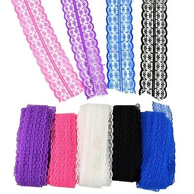 10 Yards Stretch Net Lace Trim Ribbon DIY Sewing Embroidered Decor -