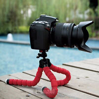 Tripod Holder Stand Mount:Cell/Phone/Camera/Red Flexible Octopus