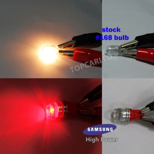 10pcs High Power 1W T10 Wedge Samsung LED Red Car Interior LED Bulbs 12V 192 194