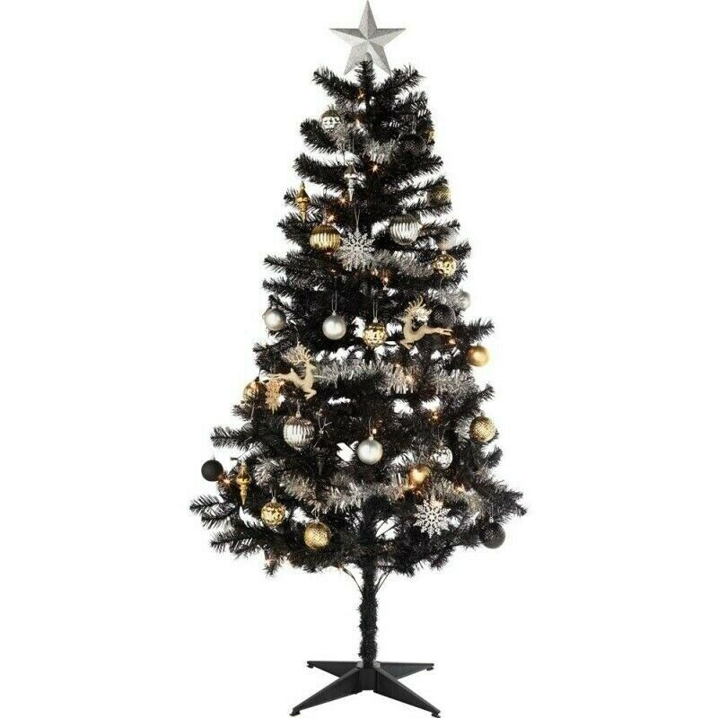 Homebase Artificial Christmas Trees: BRAND NEW IN BOX Homebase Black Shadow Artificial
