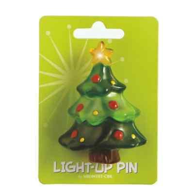 Light Up Pin (Christmas Tree LED Light Up Holiday Fashion Pin )