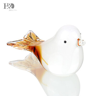 New Handmade Glass Pigeon Paperweight Art Glass Blown Bird Animal Figurine Gift