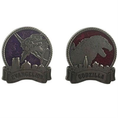 New Godzilla vs Evangelion Pins set from Japan F/S