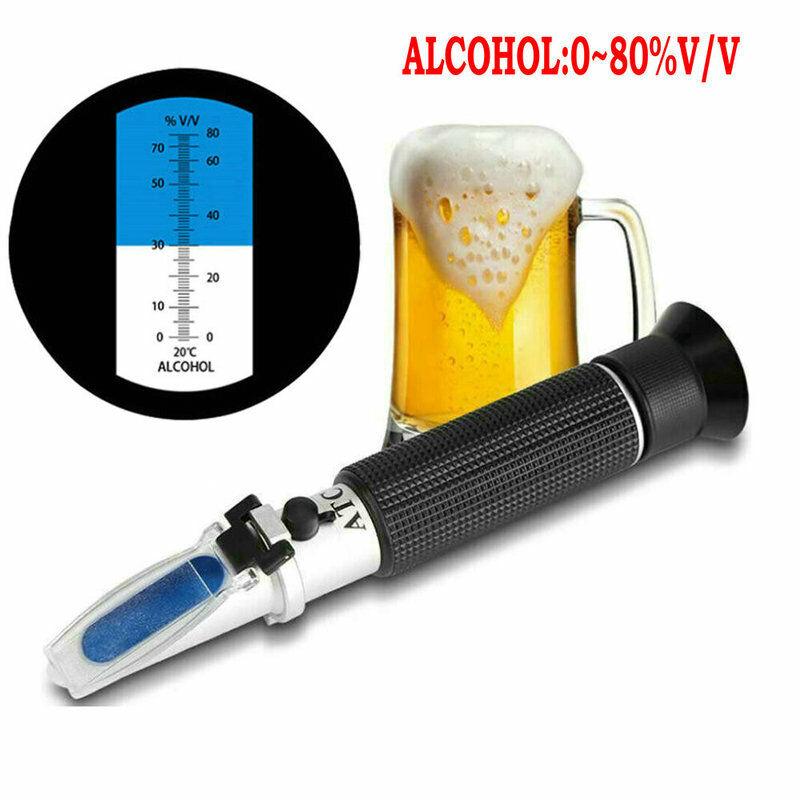 Professional Handheld Alcohol 0-80% Test Refractometer Wine Tester Meter US