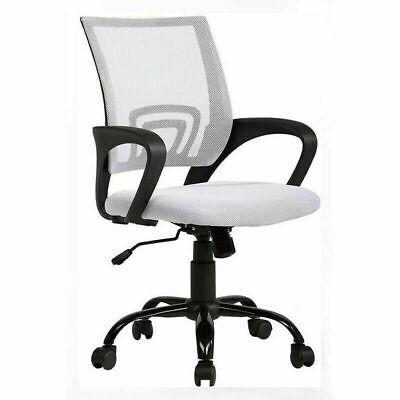 Ergonomic Mesh Office Chair Adjustable Desk Chair Swivel Computer Chairs White