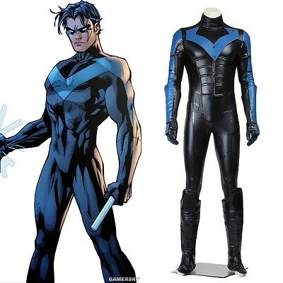 Top Grade Batman Young Justice Nightwing Cosplay Costume Full Set](Movie Grade Costumes)