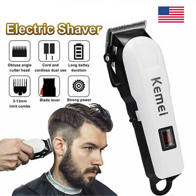 Pro Hair Clippers Trimmer Kit Machine de coupe de cheveux sans fil Barber Salon Men US